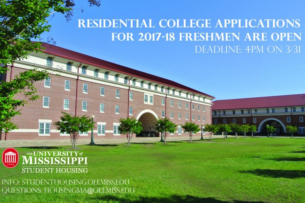 residential college applications are open